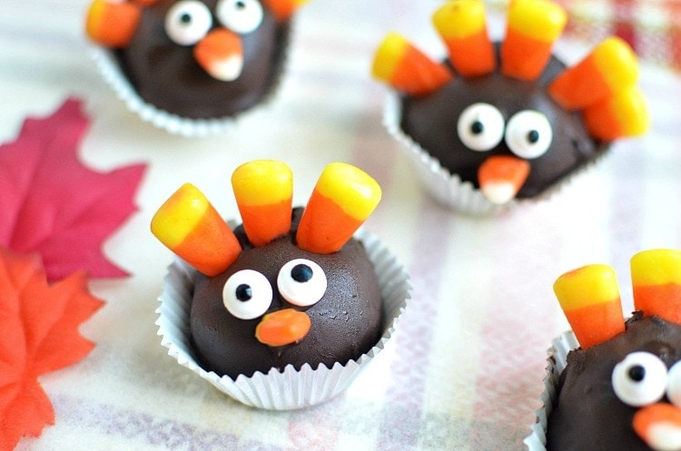 turkey oreo cookie balls recipe thanksgiving