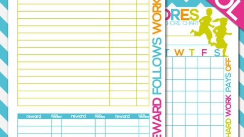 Free Printable Kids Chore Chart