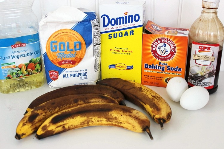 moist banana bread ingredients