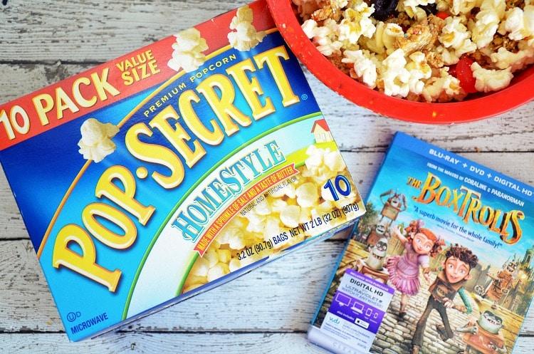 The Boxtrolls pop secret movie night