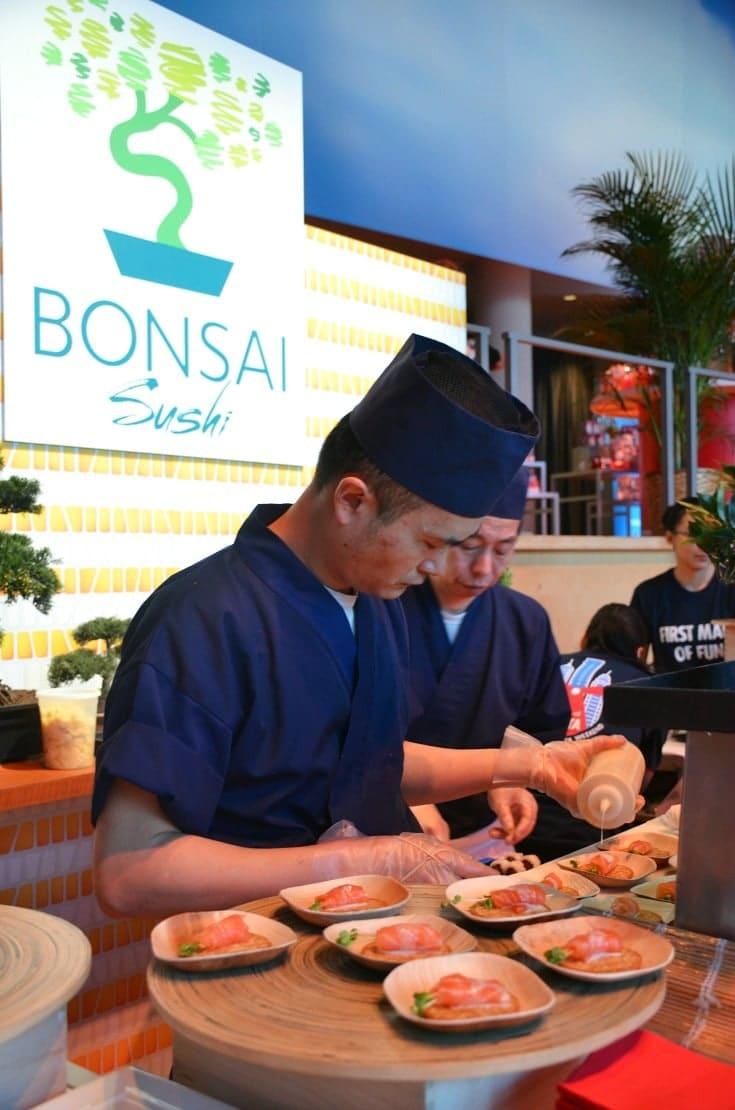 carnival vista bonsai sushi