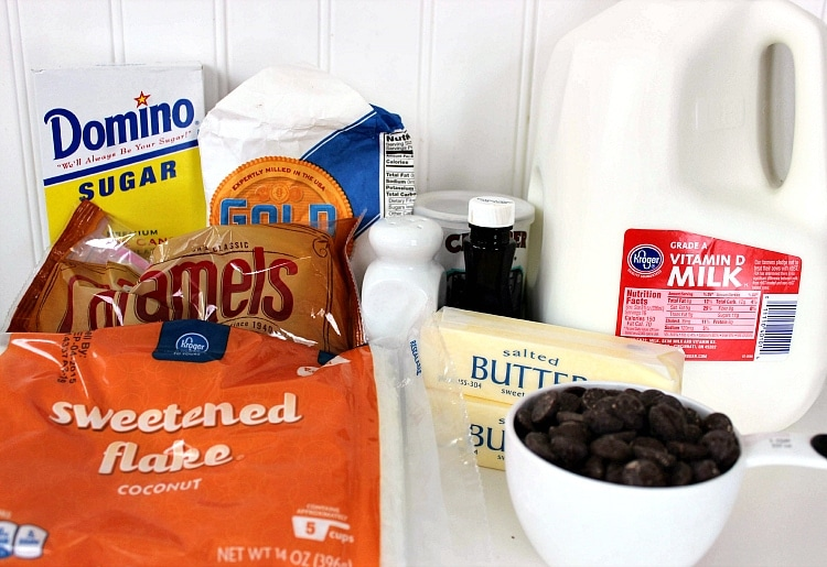 homemade samoas ingredients