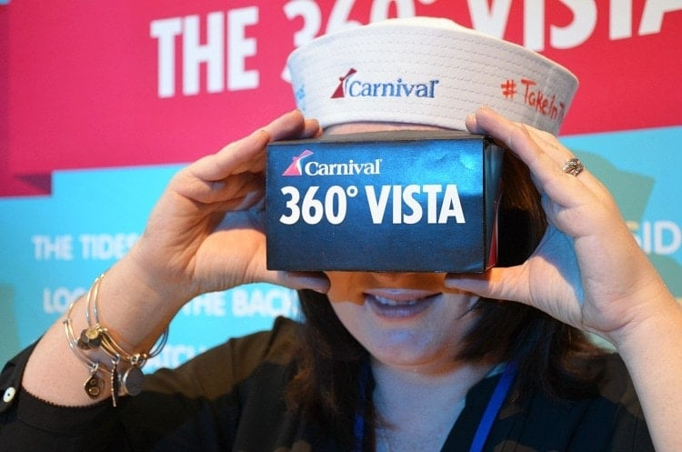 Carnival Take In the Vista Event NYC