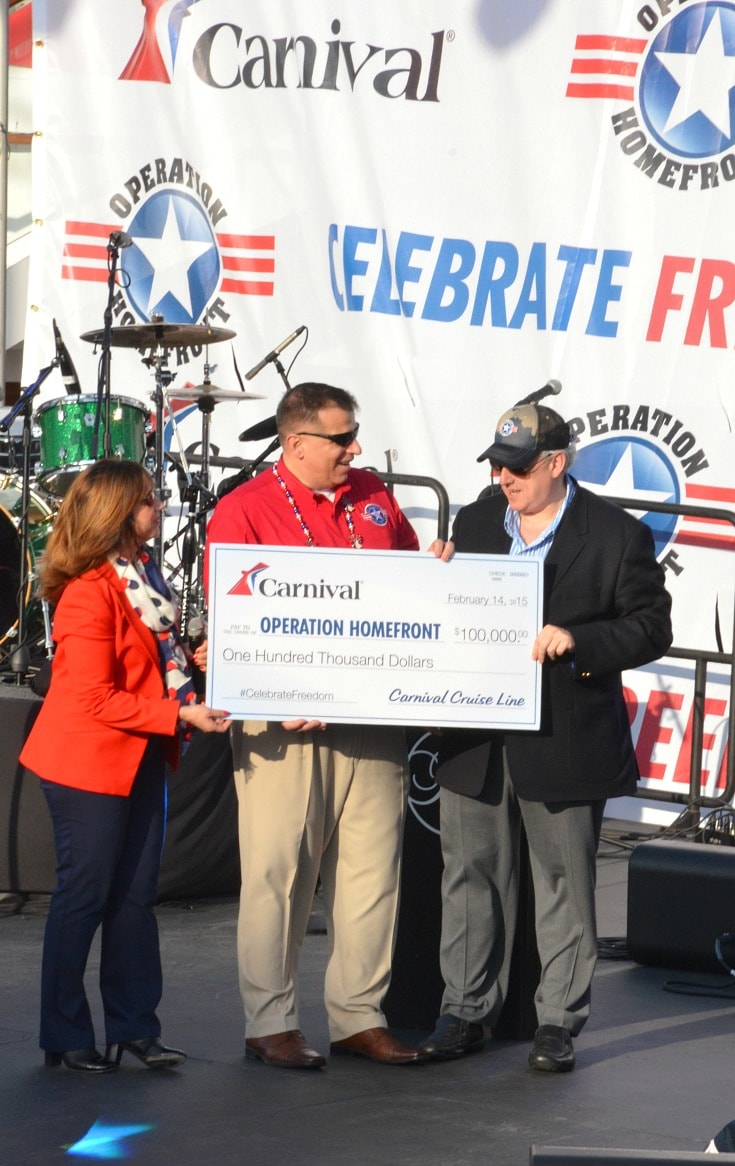 carnival operation homefront donation