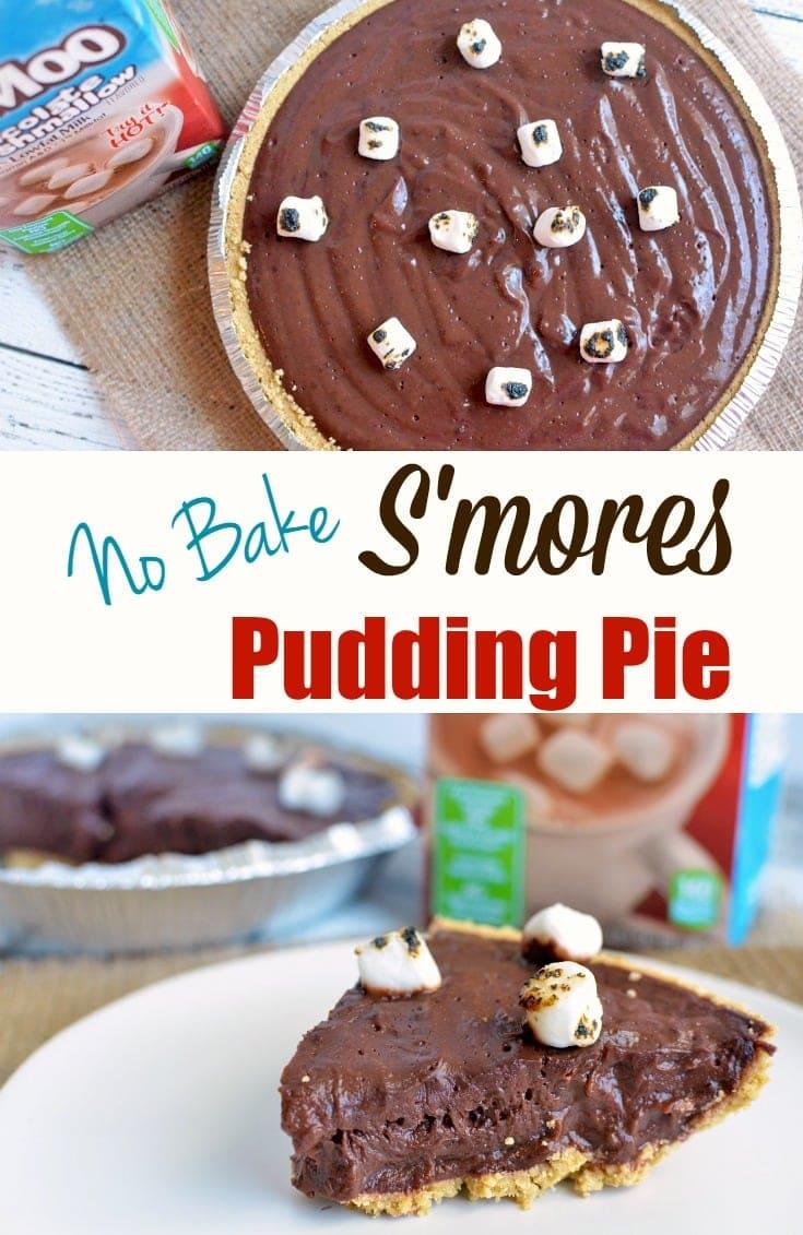no-bake s'mores pudding pie recipe
