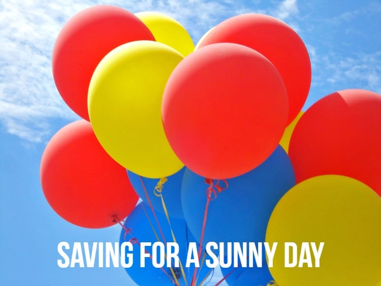 saving for a sunny day