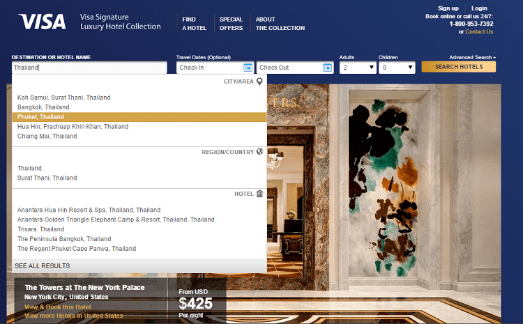 booking with the visa signature luxury hotel collection