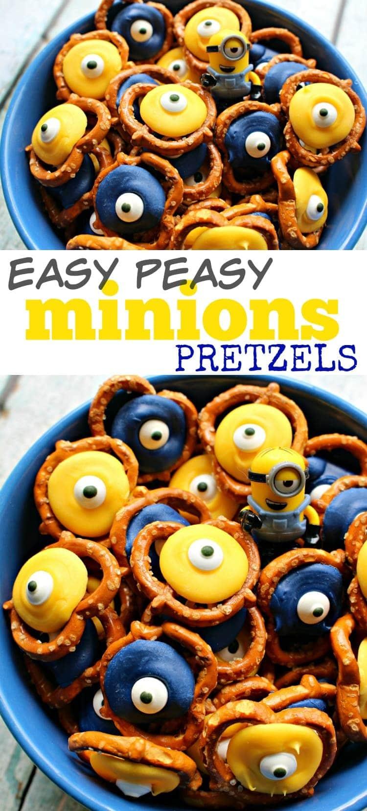 how to make minions pretzels