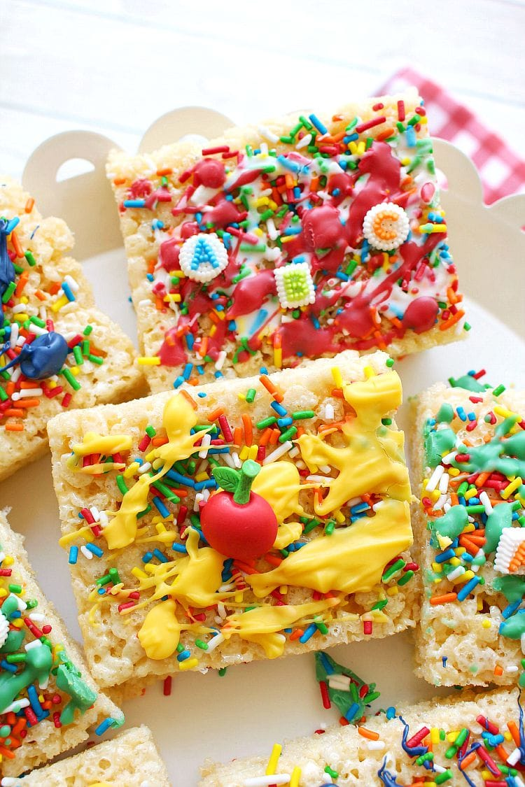 back to school rice krispies treats