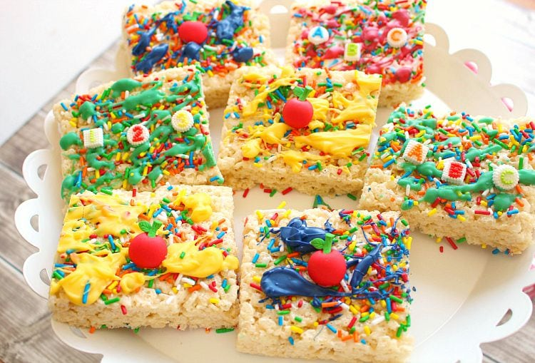 ABC Rice Krispies Treats