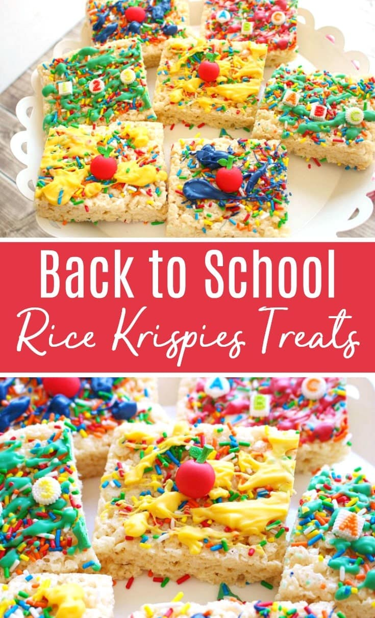 back to school rice krispies treats recipe