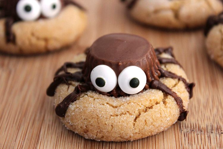peanut butter spider cookies recipe - Halloween Spider