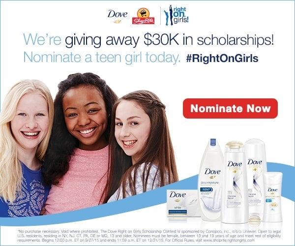 Dove Right On Girls Scholarship Contest
