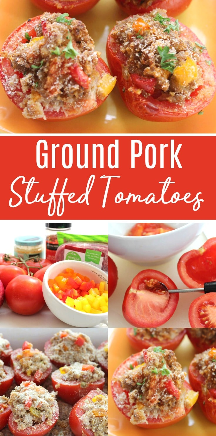 Ground Pork Stuffed Tomatoes recipe