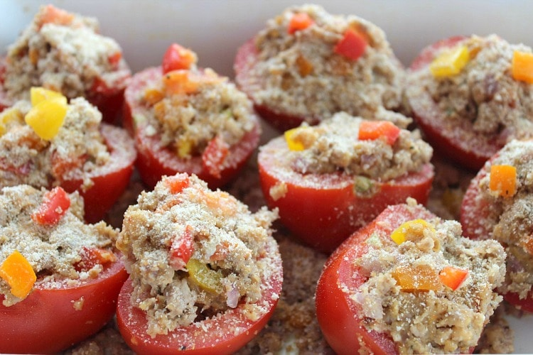 Pork Stuffed Tomatoes
