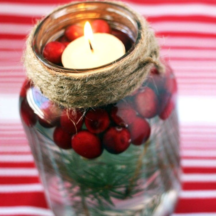Holiday Mason Jar Floating Candle