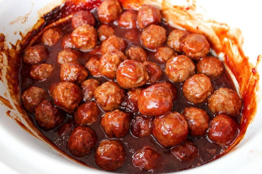 slow cooker party meatballs crock pot slow cooker