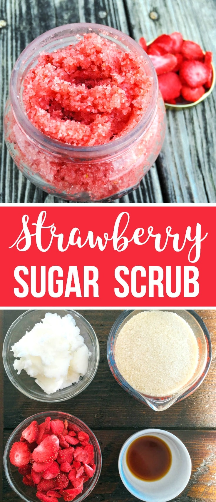 homemade strawberry sugar scrub
