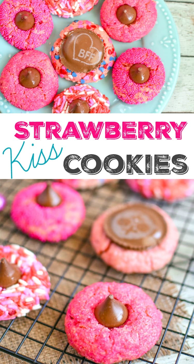 strawberry kiss cookies