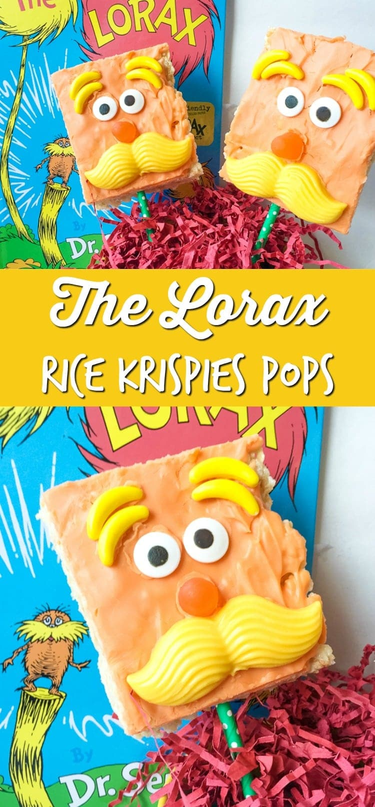 lorax rice krispies pops