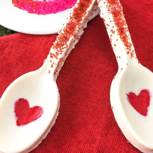 chocolate spoons for valentine's day