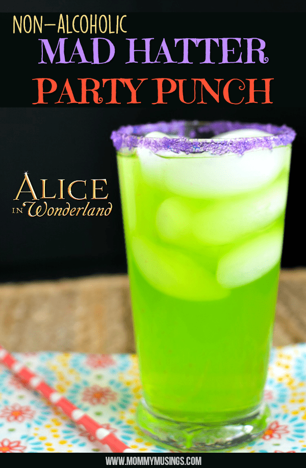 non alcoholic party punch alice in wonderland themed party