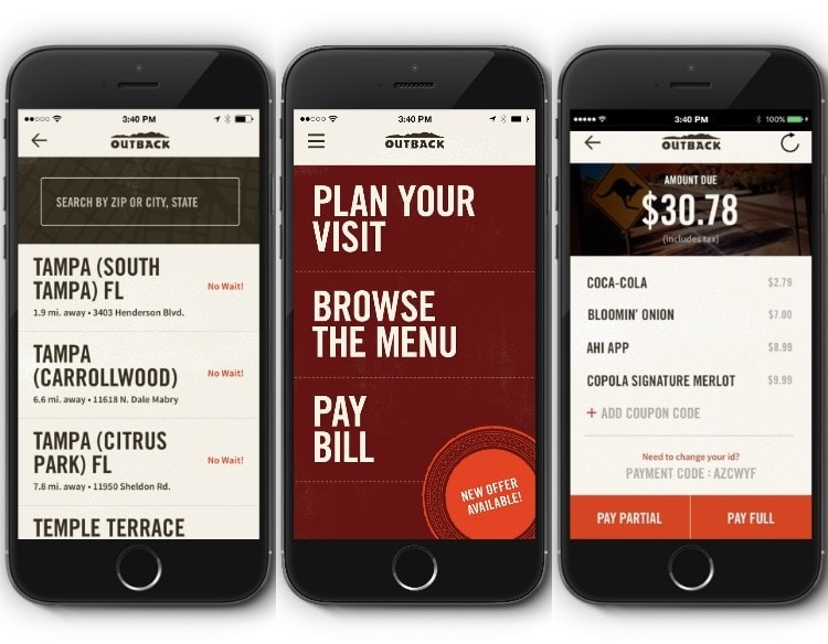 graphic regarding Outback Printable Menu known as Including the Contemporary Outback Steakhouse Application with Cell Pay out