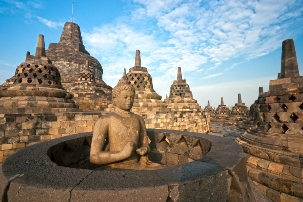 Borobudur Indonesia with kids