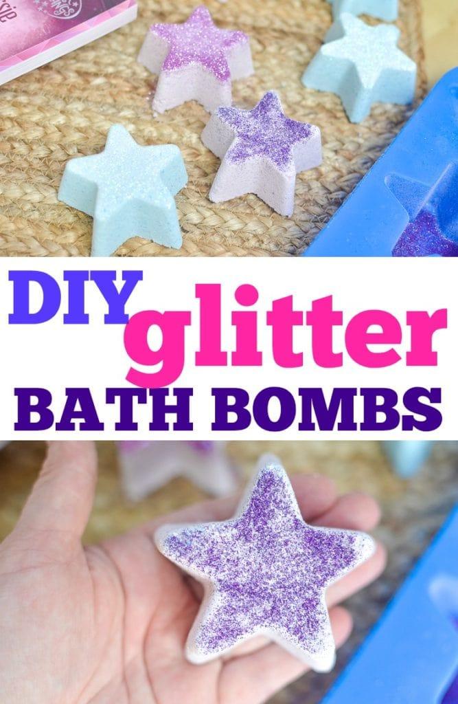 diy glitter bath bombs