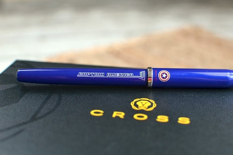 marvel series cross pen captain america