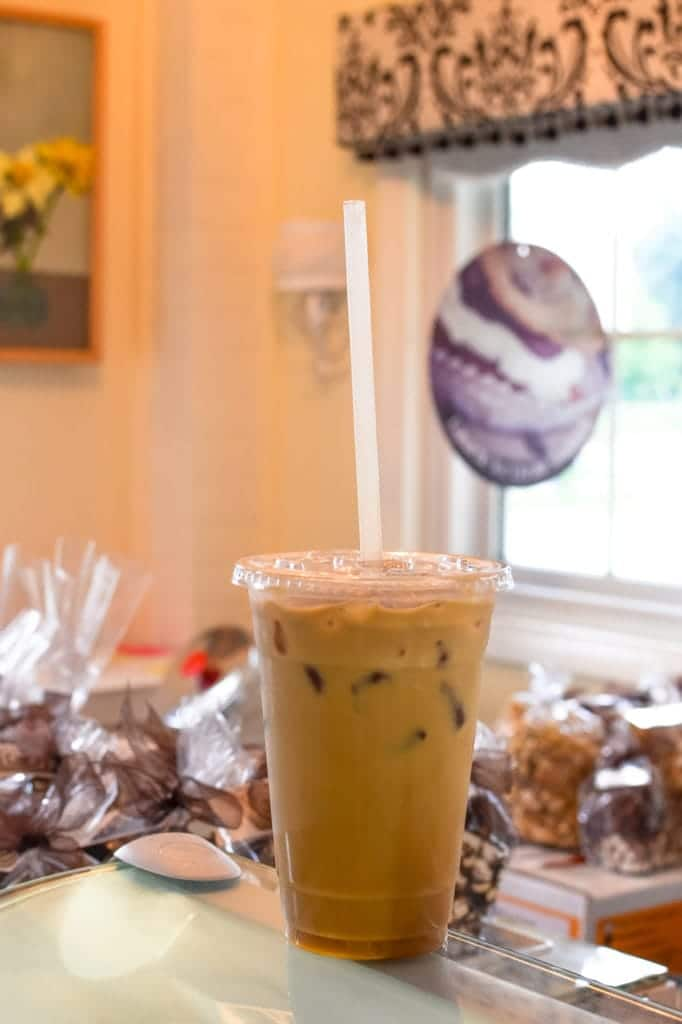 Elle's Patisserie lavender iced coffee