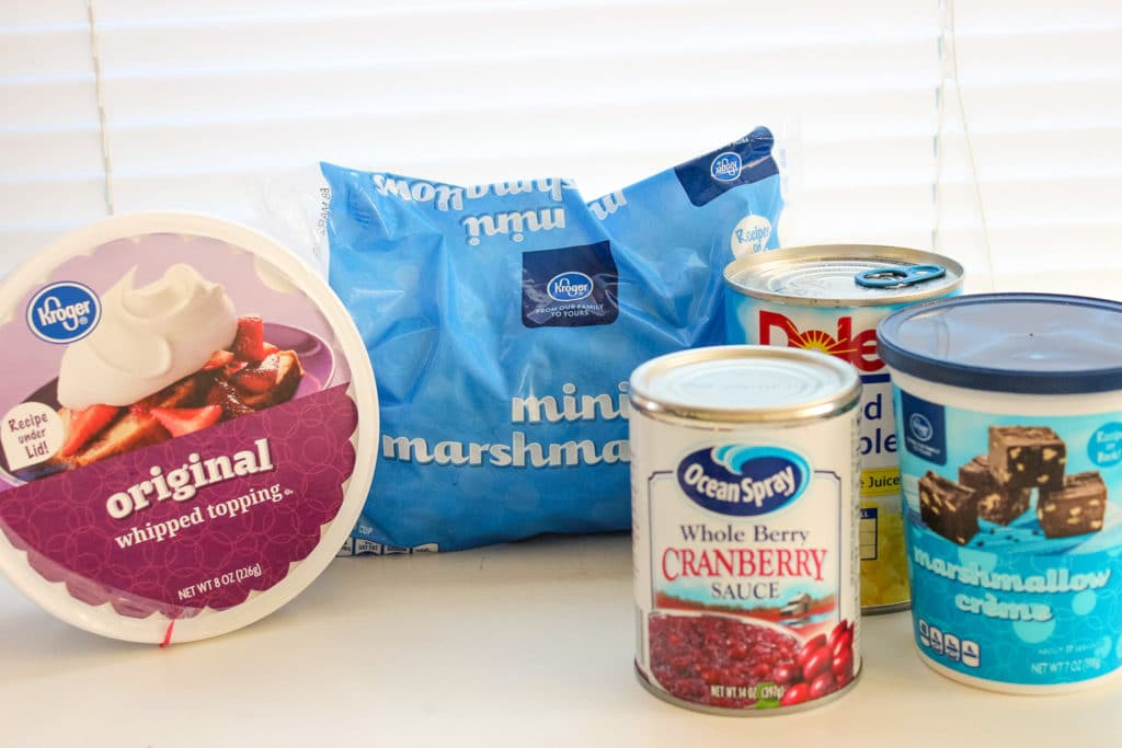 Cranberry Fluff Salad Ingredients