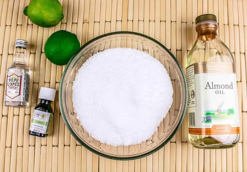 Homemade Lime Salt Scrub Recipe