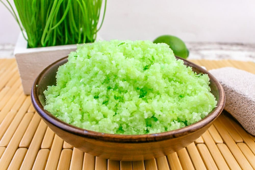 Homemade Lime Salt Scrub