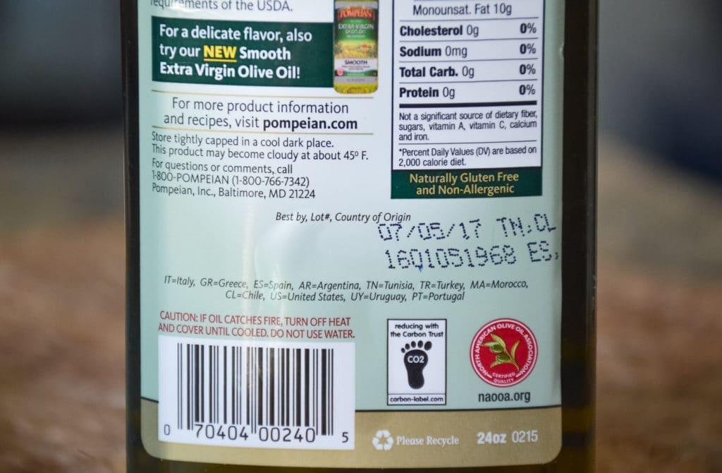 identify quality olive oil
