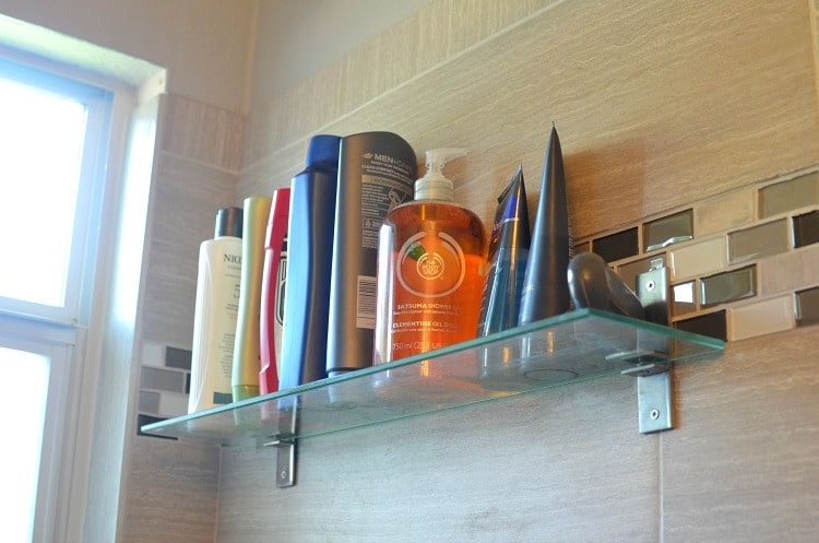 Ikea Grundtal Shelf Installation ~ Small Bathroom Storage Ideas for Under $100
