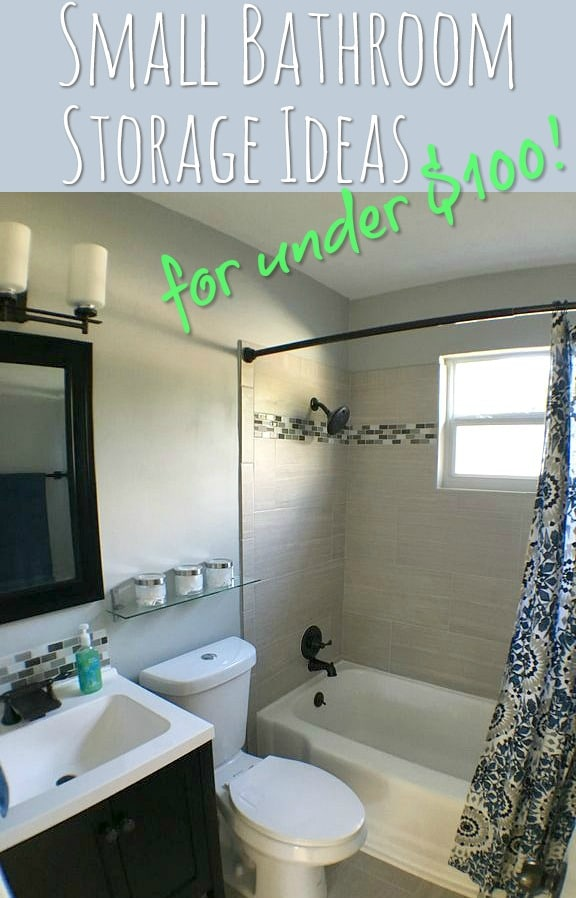 Small bathroom storage ideas for under 100 for 2nd bathroom ideas