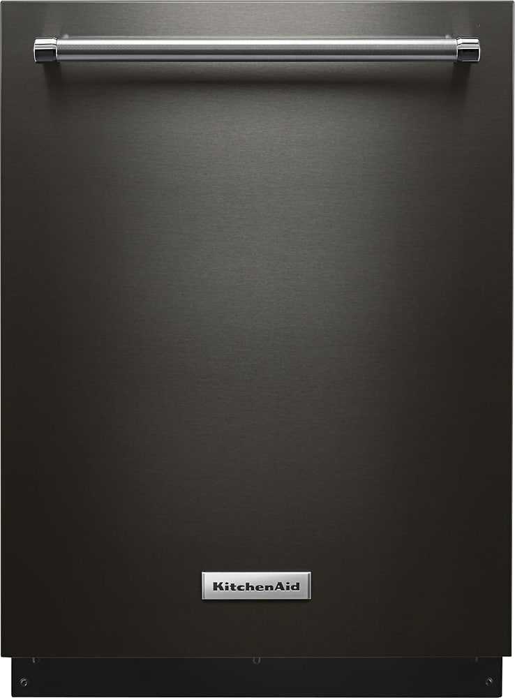 black stainless steel dishwasher kitchenaid