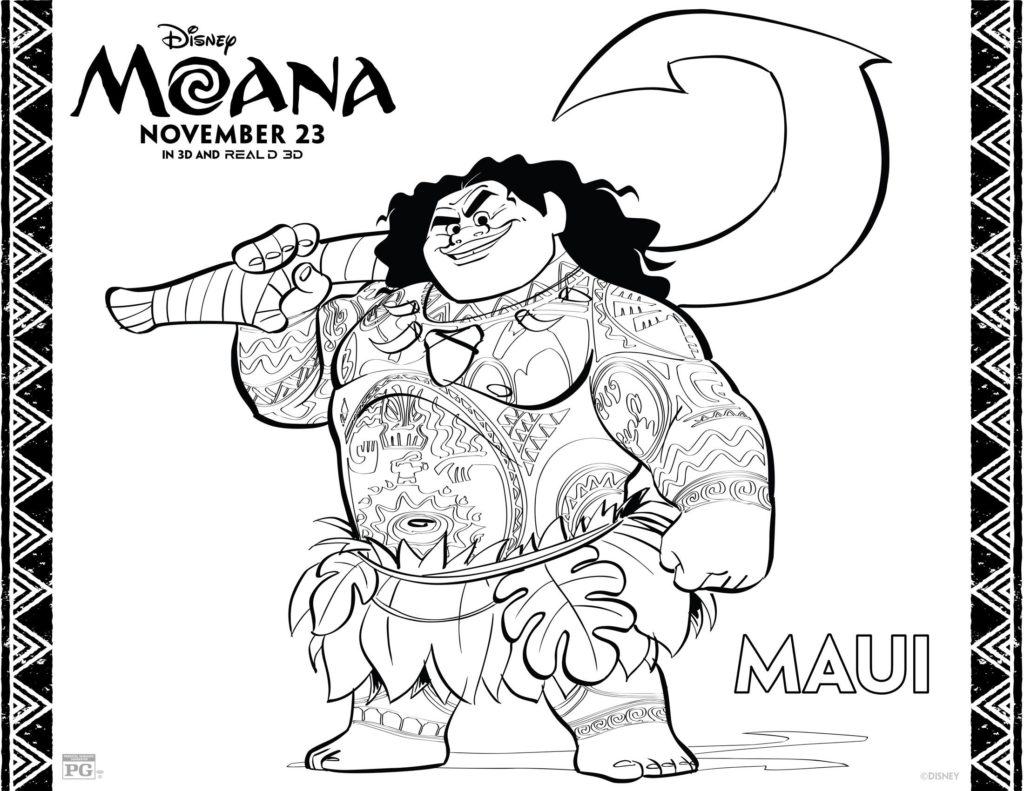 Accomplished image throughout printable moana