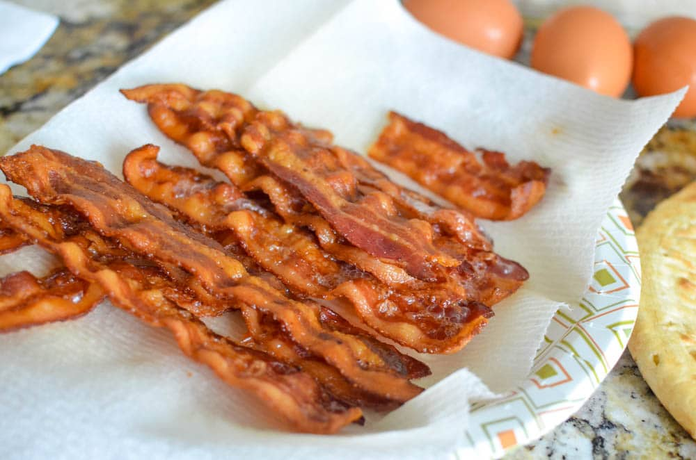 crispy cooked bacon