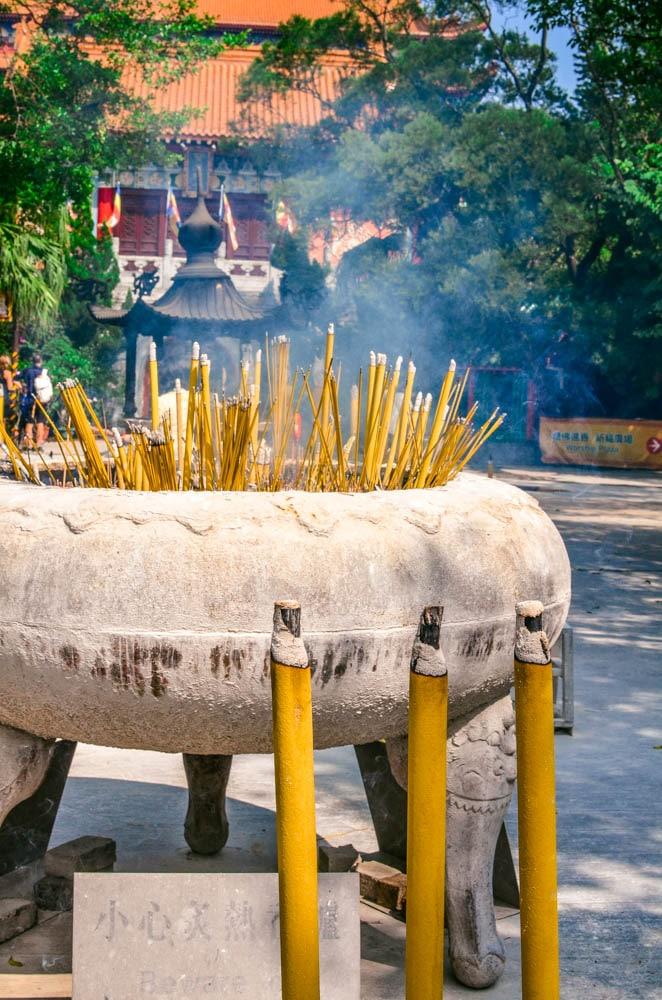incense Po Lin Monastery