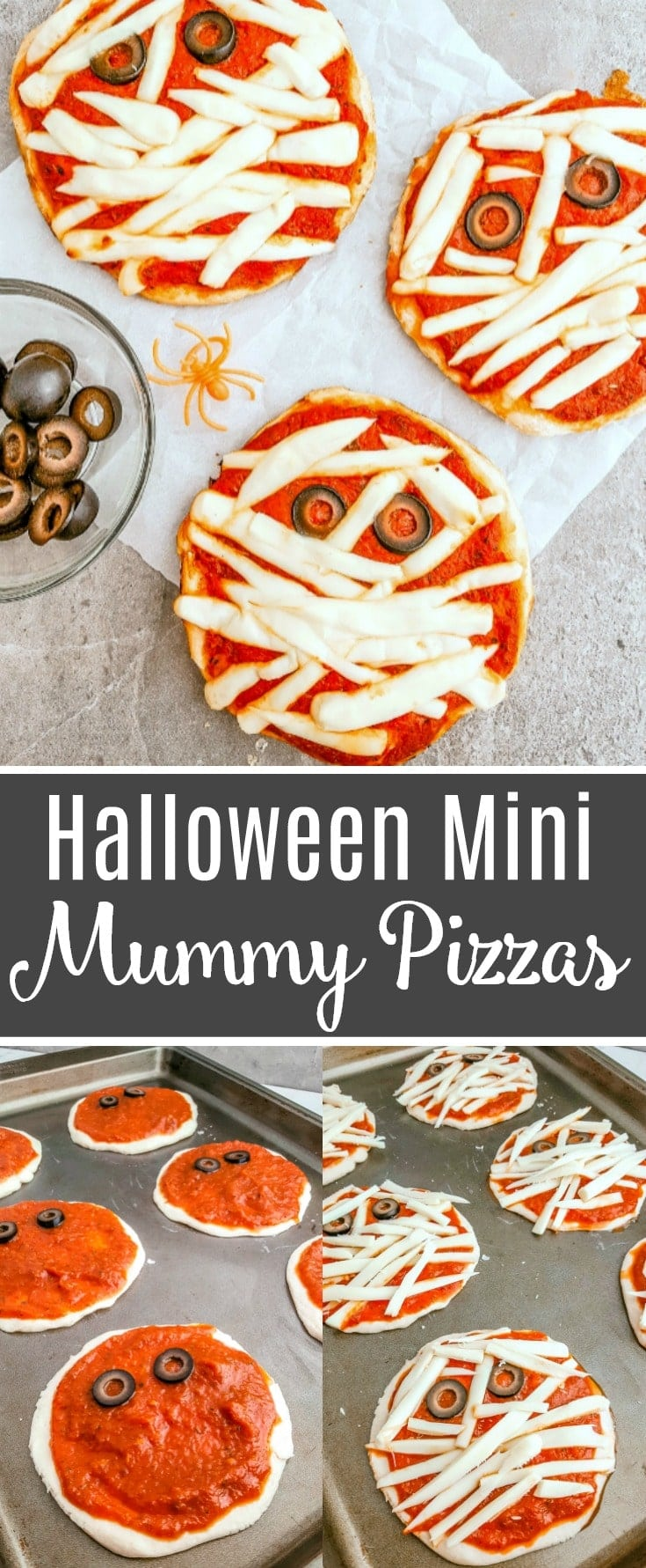 how to make mini mummy pizzas