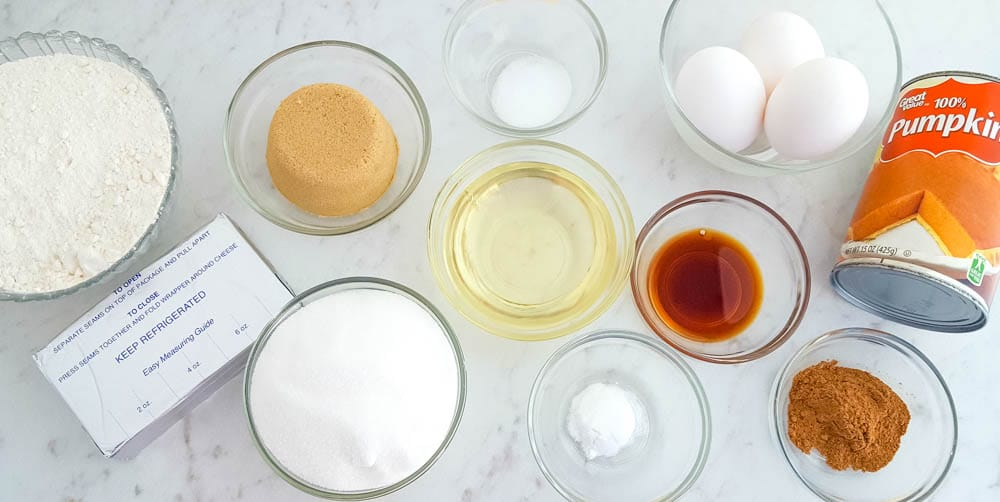 Pumpkin Cream Cheese Swirl Muffins Ingredients