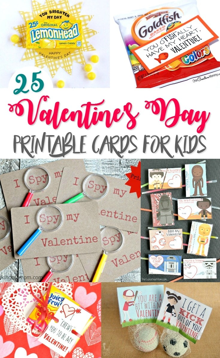 Valentine's Day Printable Cards for Kids