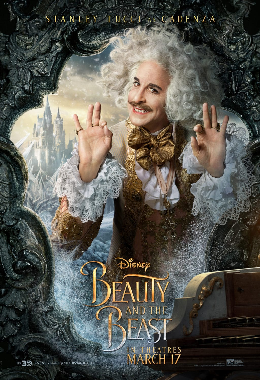Beauty and the Beast Character Posters stanley tucci cadenza