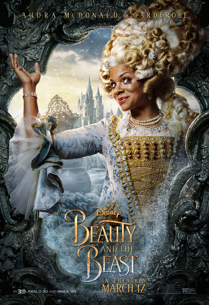 Beauty and the Beast Character Posters audra mcdonald garderobe