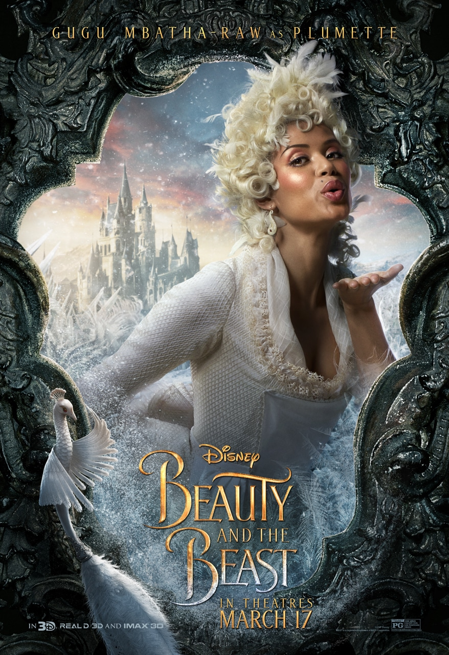 Beauty and the Beast Character Posters gugu mbatha-raw plumette