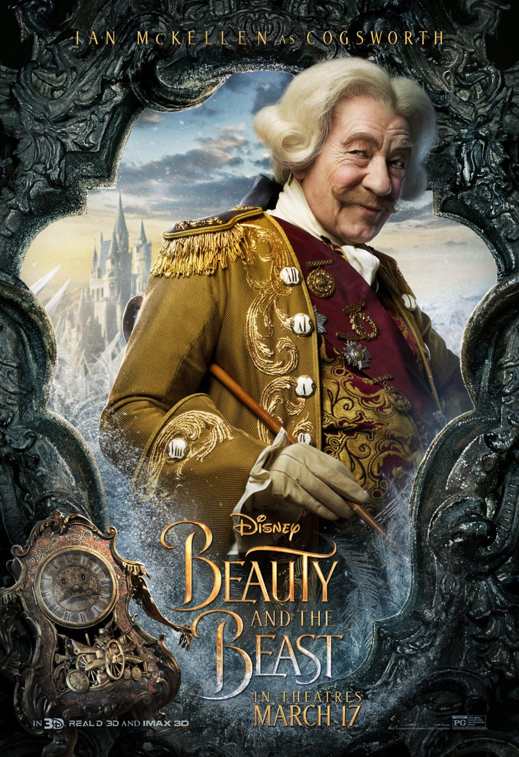 Beauty and the Beast Character Posters ian mckellen cogsworth