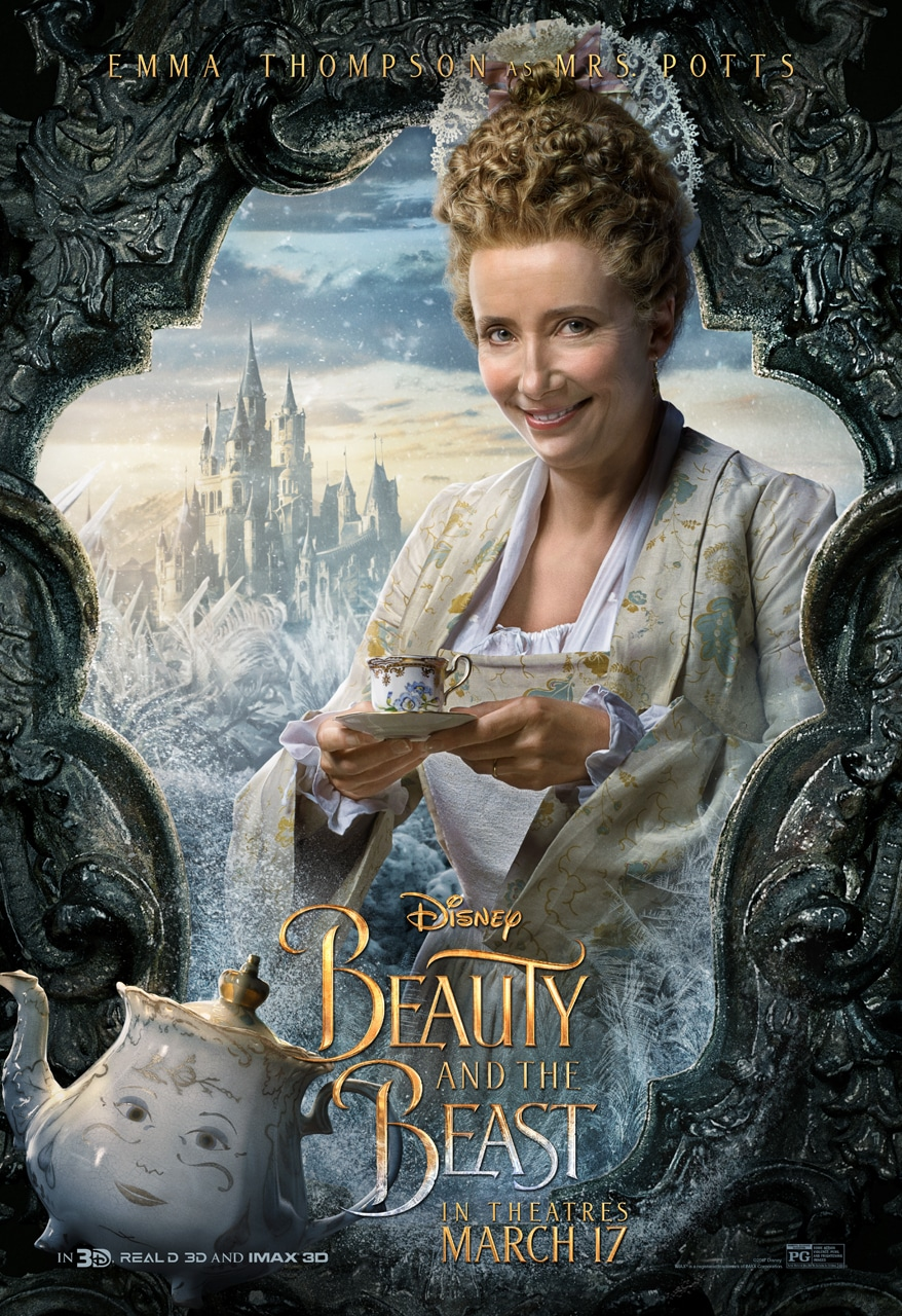 Beauty and the Beast Character Posters emma thompson mrs. potts