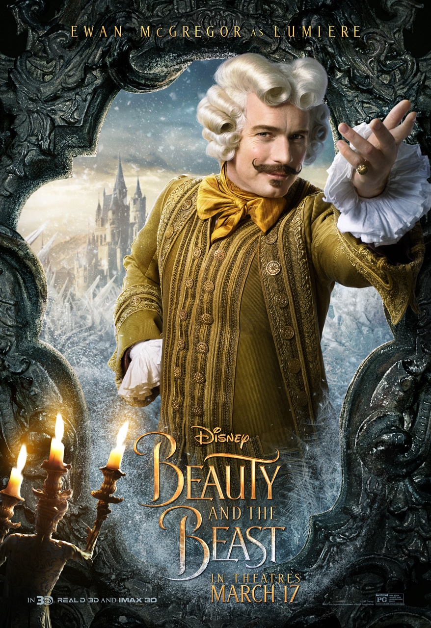 Beauty and the Beast Character Posters ewan mcgregor lumiere